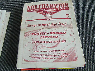 Northampton Town V Exeter City 1954-5