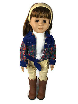 Our Generation Battat 1998 18 in Doll Brunette with Riding Outfit