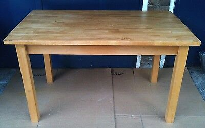 Solid Block Wood Dining Table, Seats 4-6.