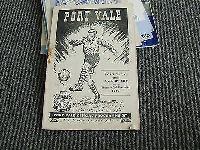 Port Vale V Coventry City 1957-8