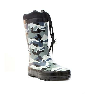 Wellygogs Boys Camouflage Drawstring Welly - Sizes 8,9,10,11,12,13,1,2,3
