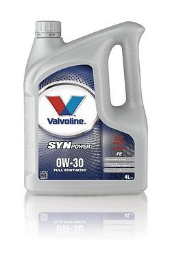 Valvoline A5B5 Synpower FE Motor Oil SAE 0W-30 Car Engine Oil 4 Litre