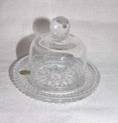 Lead Crystal Western Germany Individual Covered Butter Dish