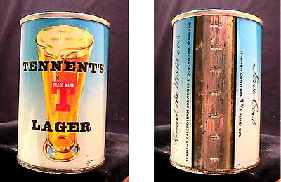 Tennents Lager - Late 1960's 9 2/3Oz Pull Tab Can - Glasgow Scotland - Very Nice