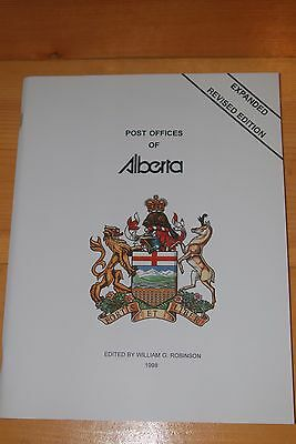 Weeda Literature: Post Offices of Alberta, William Robinson/Topping, 1998 New