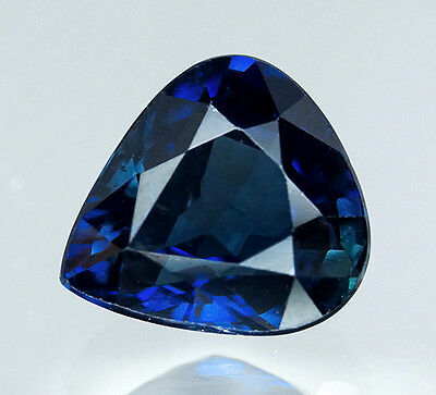 GIA CERTIFIED 2.09 cts. Natural Blue Sapphire Heated From Thailand. VDO