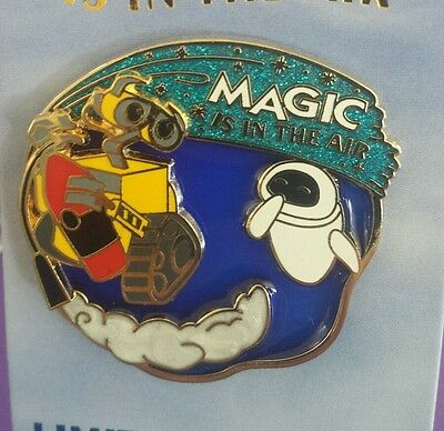"Disney/Pixar  ""WALL-E""   MAGIC is in the AIR  DISNEYLAND  SERIES LE 3000 Pin"