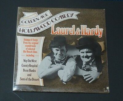 LAUREL & HARDY   Vinyl LP  The Golden Age Of Hollywood (Songs & excerpts) EX+