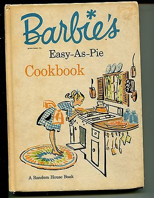 Vtg 1964 Barbie Easy As Pie Cookbook HC Random House 1st Print Cynthia Lawrence