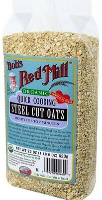 Bob's Red Mill Organic Quick Cook Steel Cut Oats 22 oz (Pack of 3)