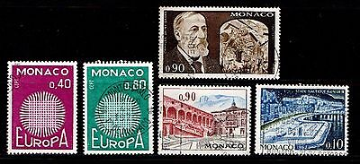 Monaco................a Good Lot...postally Used Stamps.....57361