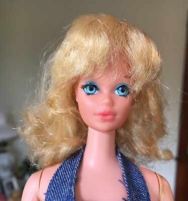 Vintage Barbie 1972 Talking Busy Steffie Doll RARE Wearing Busy Barbie Outfit