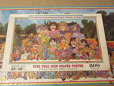 800 Teile - The Beatles Illustrated Lyrics Puzzle in a Puzzle (vollständig,1970)