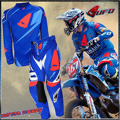 Completo Cross Enduro Made In Italy Ufo Revolution Taglia L - 48 Blu