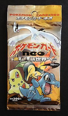 Neo SEALED Booster Pack Japanese Pokemon Cards 1999