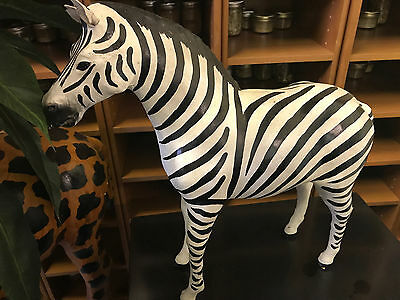 Leather Zebra Standing custom Statue