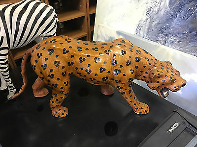 Leather Cheetah Standing Custom Statue