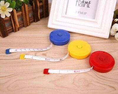 """3x 1.5M 60"""" Body Clothes Measure Tape Line Ruler Soft Retractable Sewing Tailor"""