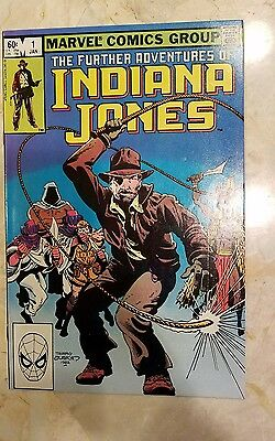 The Further Adventures Of Indiana Jones #1 1983 Vintage Marvel Movie Comic Book!