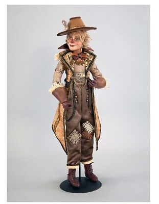 """Katherine's Collection 24"""" Gilded Seasons Scarecrow Doll NEW 28-728454"""