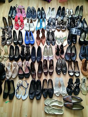 Job Lot 50 Pairs Of Womens Shoes Bundle Various Sizes Car Boot Export Resale 3