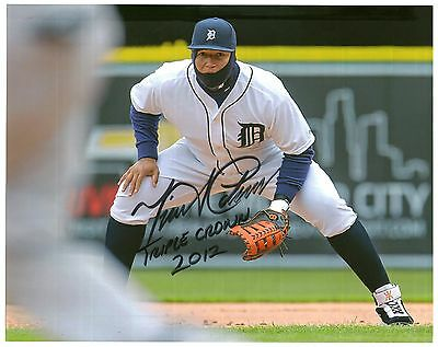 MIGUEL CABRERA SIGNED AUTOGRAPH 8 X 10 PHOTO Rare in Play Crown Tigers Detroit