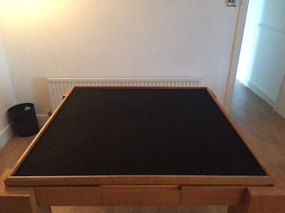 Table that turns into a table for card games