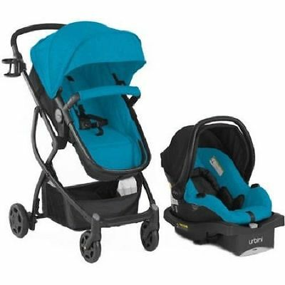 Baby Stroller Car Seat 3 in 1 Travel System Infant Carriage Buggy Bassinet Teal