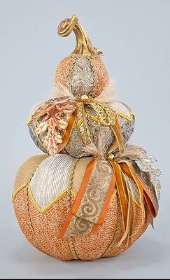 Katherine's Collection Gilded Pumpkins Stack NEW 28-728503 Autumn Thanksgiving