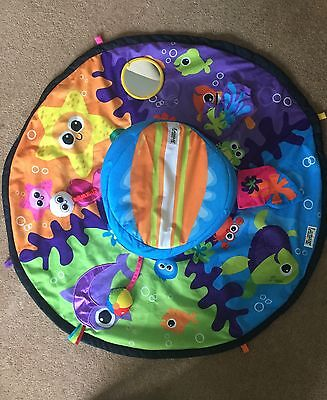 LAMAZE Spin And Explore Baby Gym/ Play Mat -TUMMY TIME