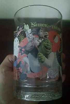 "Dreamworks Shrek the Third Pint Size Glass ""Beware of Ogres"" 2007 McDonald's"