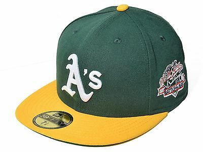 best loved 917f8 afa60 New Era Oakland Athletics 59Fifty MLB World Series Fitted Cap (OAKATH WORLD  GN)