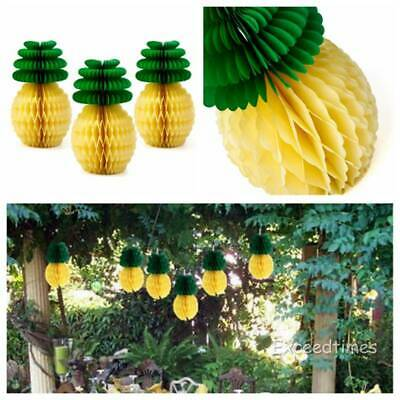 5 Pineapple Honeycomb Paper Ball Hawaiian Party Garland Table Centerpiece Decor