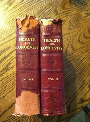 Health and Longevity by Joseph G. Richardson Medical Book 1914  Vol I and II HC
