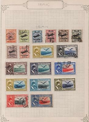 MIDDLE EAST: Airmail Examples - Ex-Old Time Collection - Album Page (8340)
