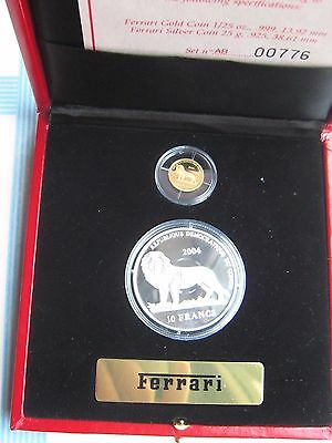 "CONGO DEMOCRATIC REPUBLIC - 10 + 20 Francs ""Ferrari"" 2004 PROOF"
