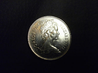 2 x 1980, Five Pence Coins. Very Good condition.