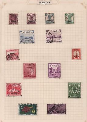 PAKISTAN: Used Examples - Ex-Old Time Collection - Album Page (8852)