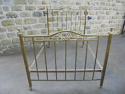 Antique Brass Framed Double Bed