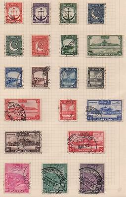 PAKISTAN: Used Examples - Ex-Old Time Collection - Album Page (9269)