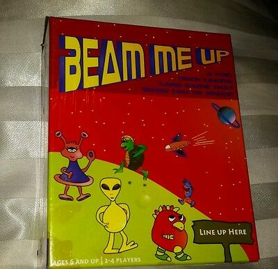BEAM ME UP CARD GAME  2-4 PLAYERS / AGES 6 AND UP New and Sealed