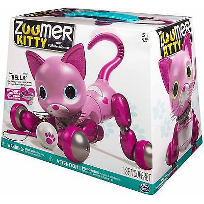 NEW-Zoomer Kitty BELLA Pink Interactive Kitty Cat w/ Special Collar