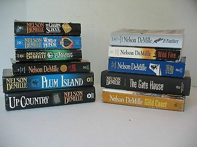 Nelson DeMille book lot of 11 Paper/Hardbacks, Adventure Thrillers, Fiction