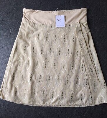 BNWT BLOSSOM MOTHER & CHILD Cream Cotton MATERNITY Skirt Size M