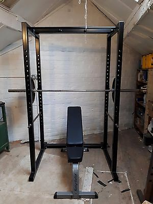 power rack body solid incline  bench and olympic weights
