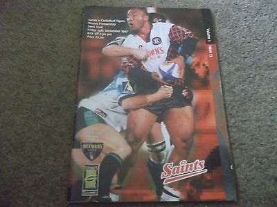 1997 Premiership Semi Final St Helens V Castleford Tigers 19Th September 1997