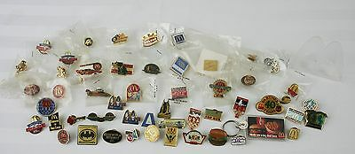 Vintage McDonald's Lapel Employee Pins and small Plexiglass Display Unit