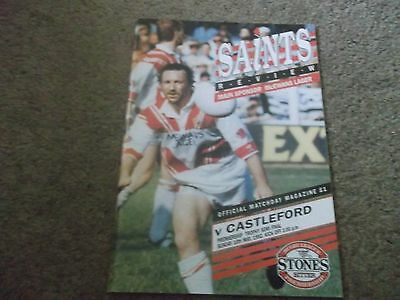 1992 Premiership Trophy Semi Final St Helens V Castleford 10Th May 1992