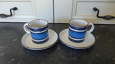 VINTAGE MIDWINTER STONEHENGE MOON COFFEE CUPS AND SAUCERS X 2 Eve Midwinter