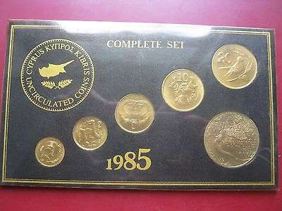 Cyprus 1985 UNC 6 coin collection set: 1 2 5 10 20 & 50 FAO Cents